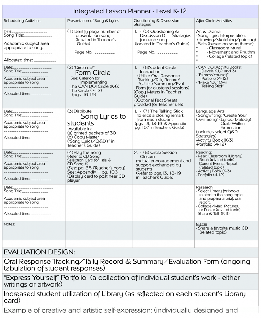 Integrated-Lesson-Planner